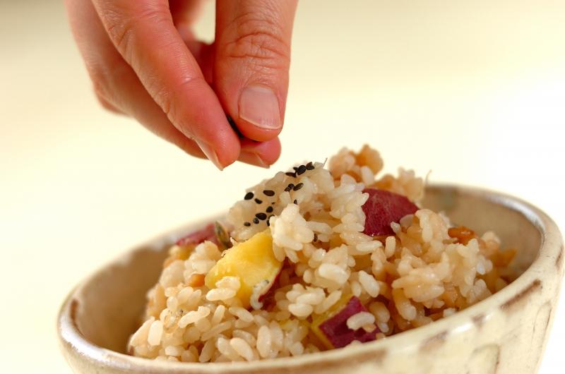 サツマイモとジャコの炊き込みご飯の作り方の手順4