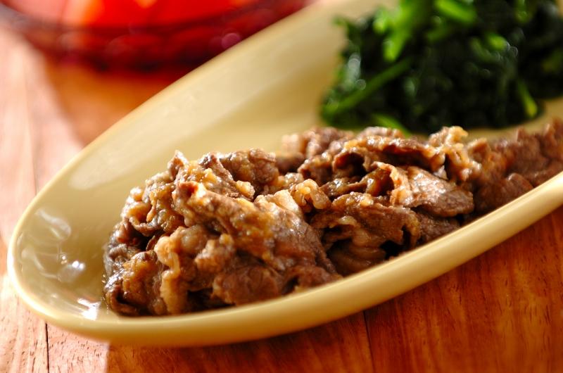 牛肉のバターしょうゆ炒めの作り方の手順