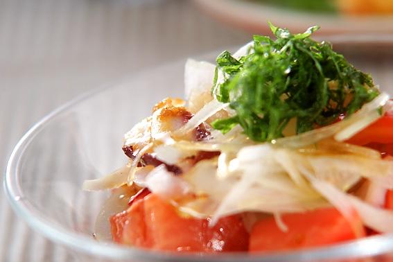 タコとトマトと大葉のサラダの作り方の手順
