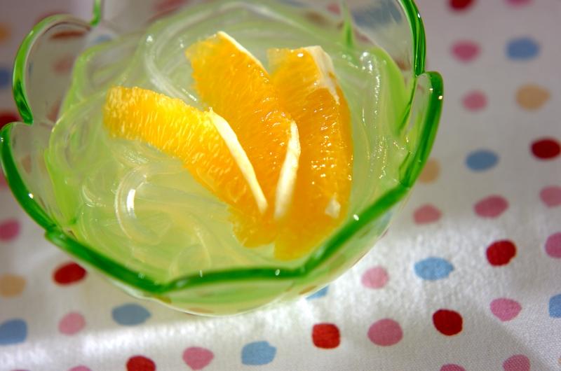 葛きりのオレンジソースの作り方の手順