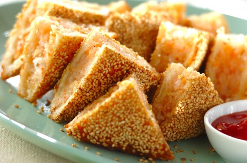 エビのすり身サンド揚げの作り方の手順