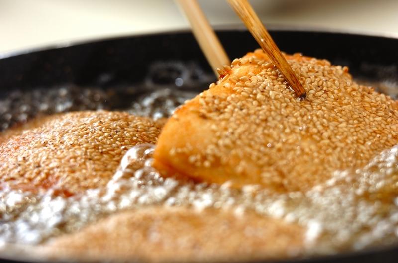 エビのすり身サンド揚げの作り方の手順6