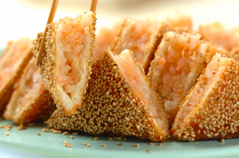 エビのすり身サンド揚げの作り方の手順7