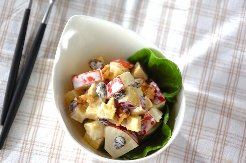 サツマイモとリンゴのデリ風サラダの作り方の手順