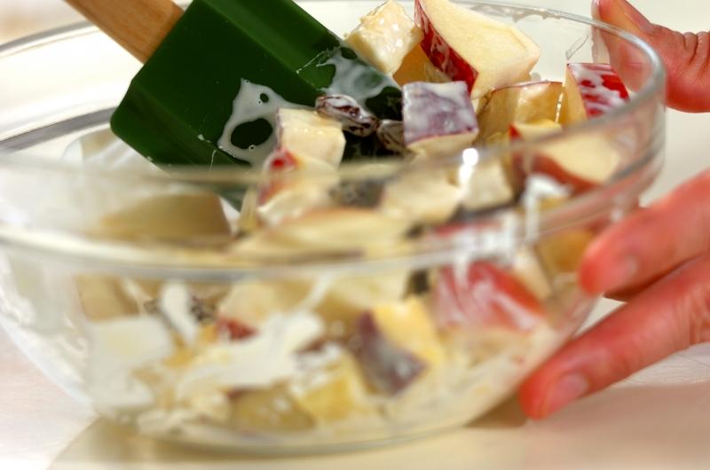 サツマイモとリンゴのデリ風サラダの作り方の手順3