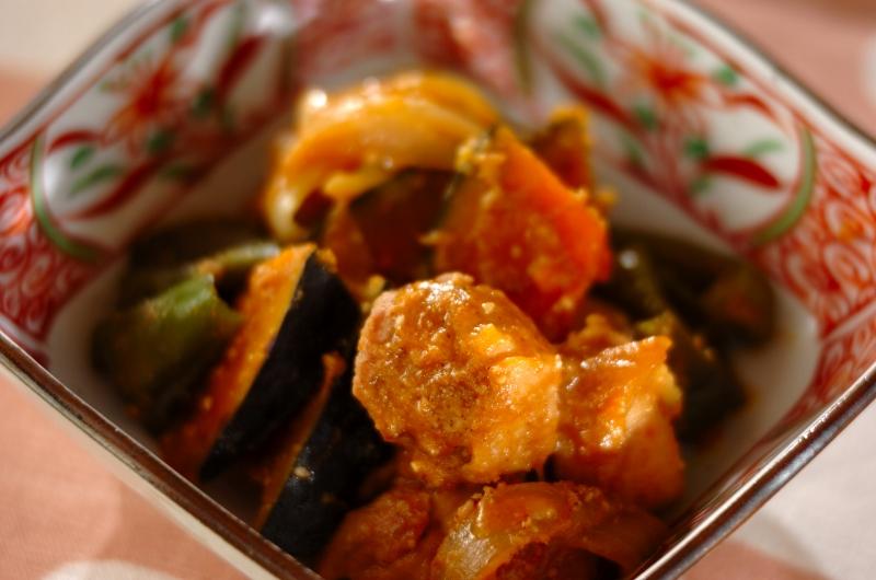 鶏肉のゴマみそ炒め煮