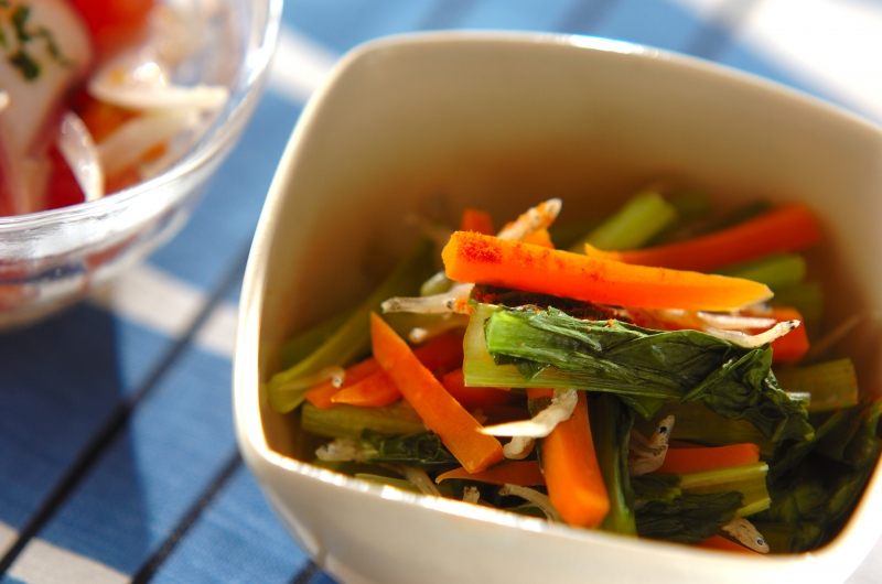 小松菜とジャコのサッと煮