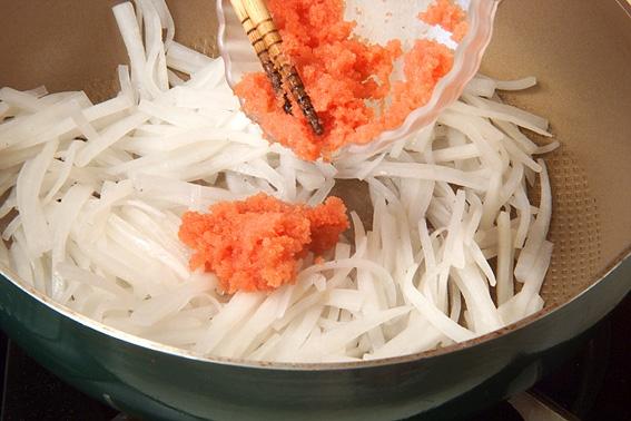 大根の明太子炒めの作り方の手順4