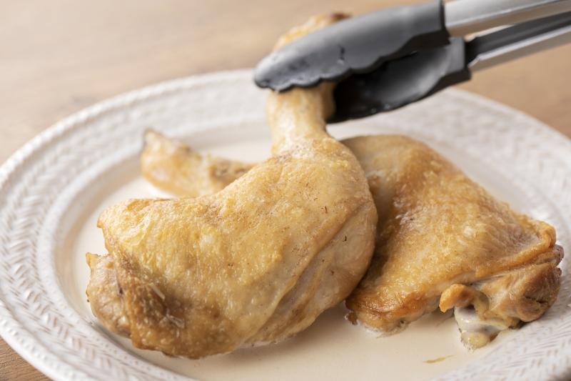 ホワイトソースのローストチキンの作り方の手順9