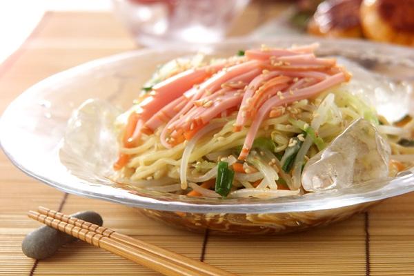 野菜冷麺の作り方の手順