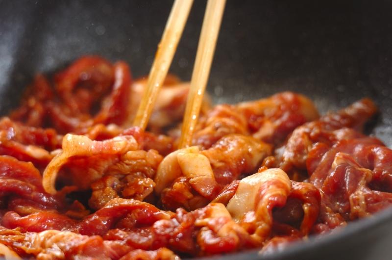 豚肉の甜麺醤炒めの作り方の手順3