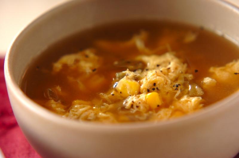 ザーサイとコーンのスープの作り方の手順