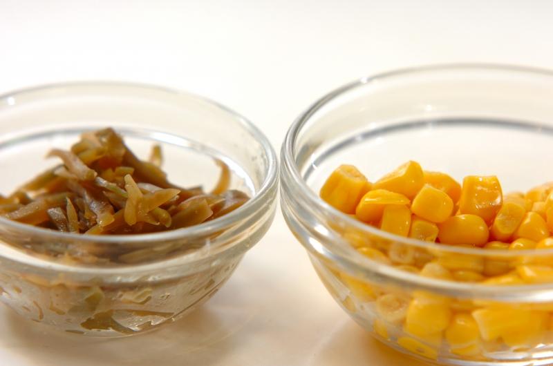 ザーサイとコーンのスープの作り方の手順1