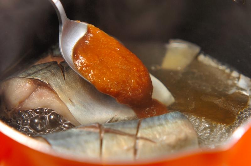 サバのみそ煮の作り方の手順3