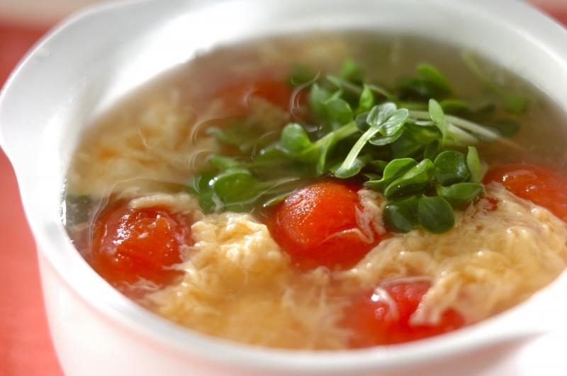 トマトのかき玉スープの作り方の手順