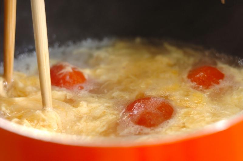 トマトのかき玉スープの作り方の手順3