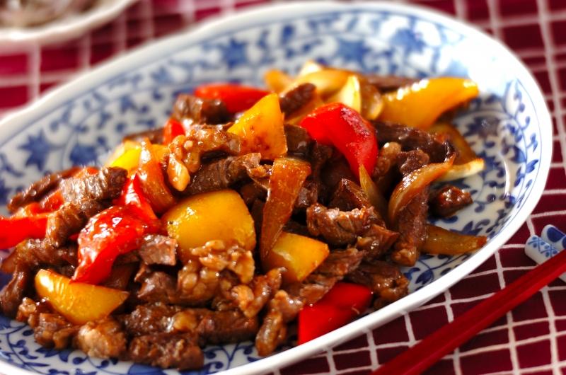 牛肉とパプリカのしょうゆ炒めの作り方の手順