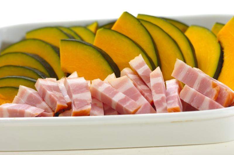 焼きカボチャのサラダの作り方の手順1