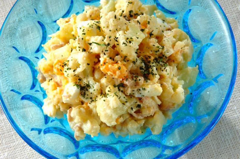 カリフラワーとゆで卵のサラダの作り方の手順
