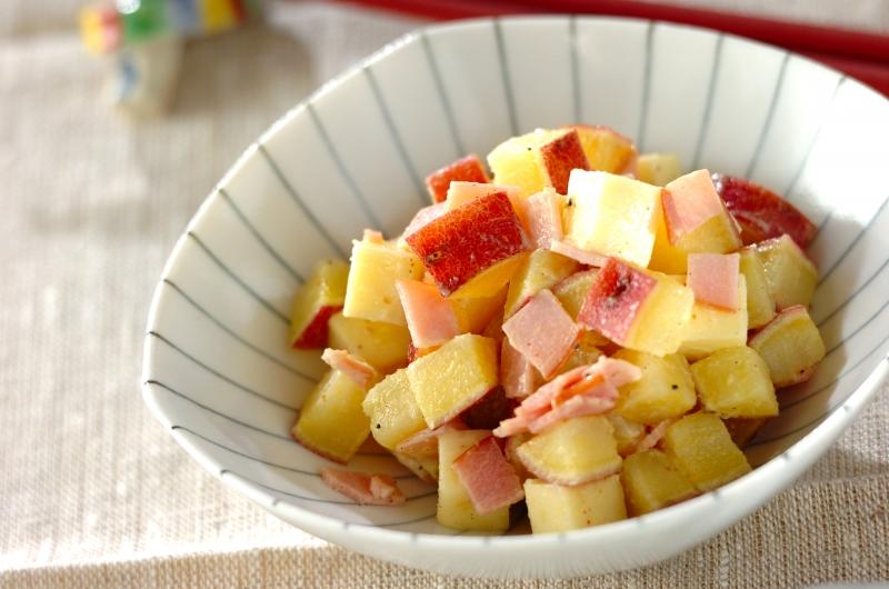 サツマイモとチーズのサラダの作り方の手順