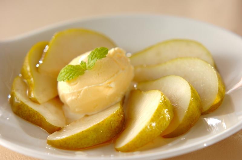 洋梨のバニラとブランデー風味