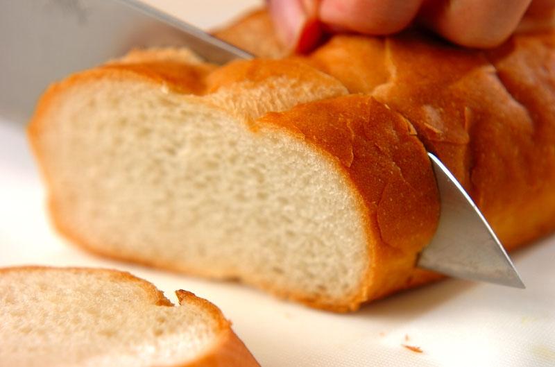 ガーリックトーストの作り方の手順1