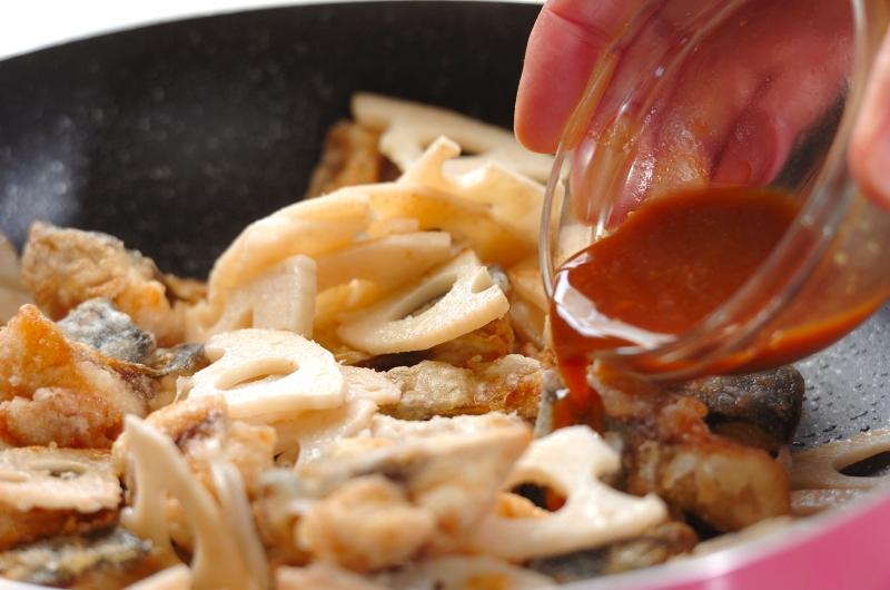 サバの中華風炒めの作り方の手順5