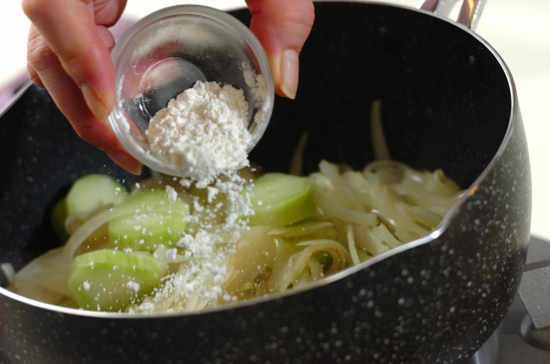 ブロッコリーの茎のポタージュの作り方2