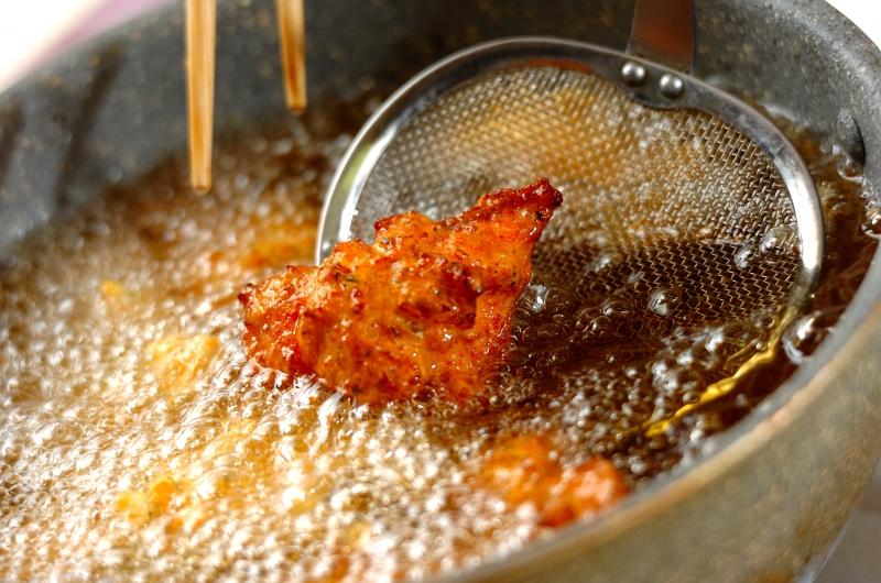 鮭のオランダ揚げの作り方2