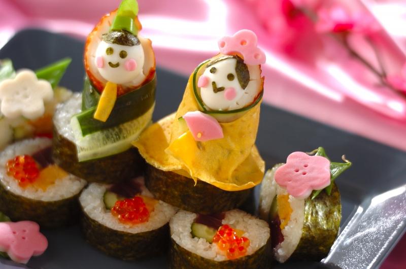 ひな祭り巻き寿司