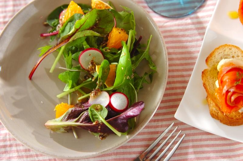 ラディッシュとオレンジのサラダの作り方の手順