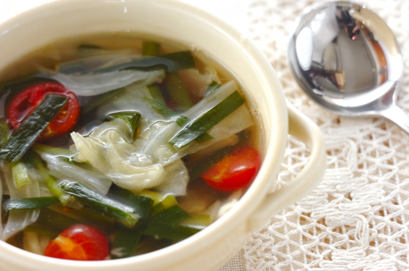 野菜のナンプラー風味スープ