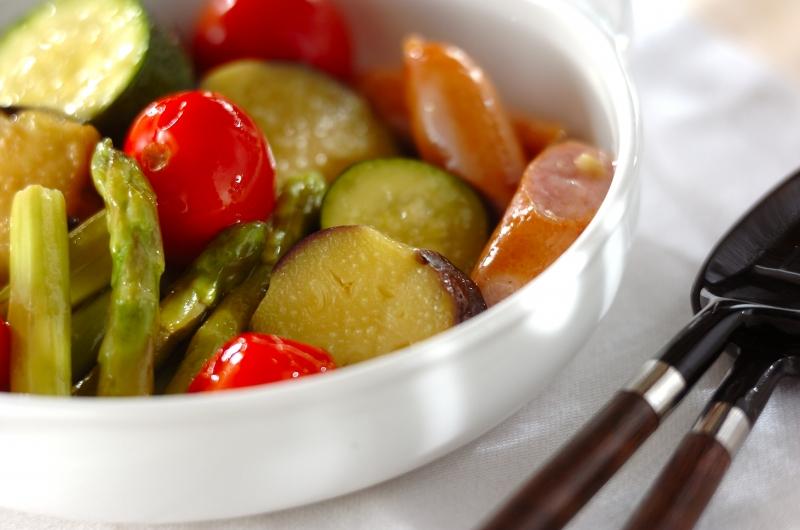 夏野菜のオイル蒸し煮の作り方の手順