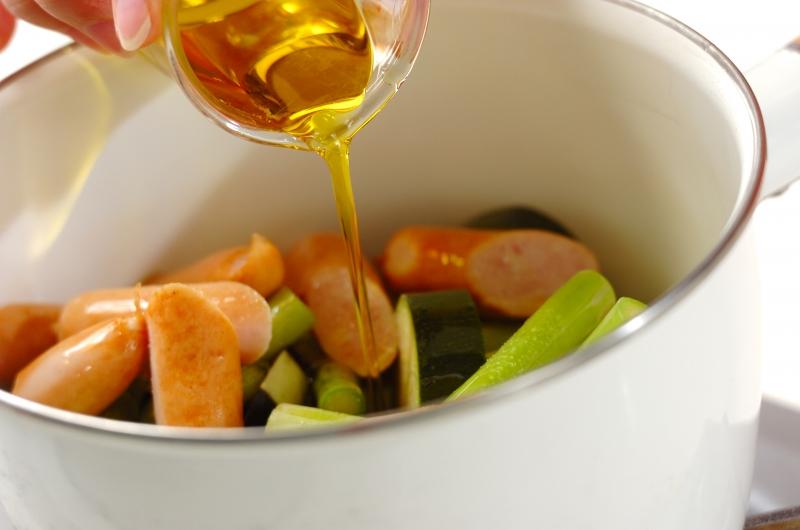 夏野菜のオイル蒸し煮の作り方1