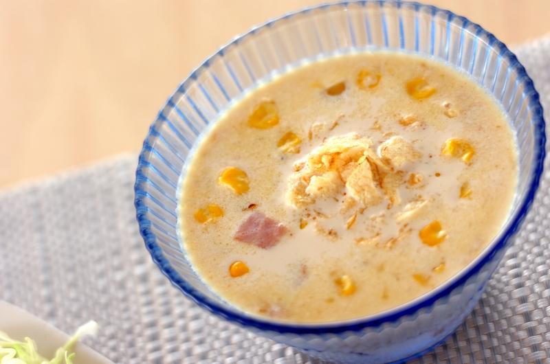 冷製コーンミルクスープの作り方の手順