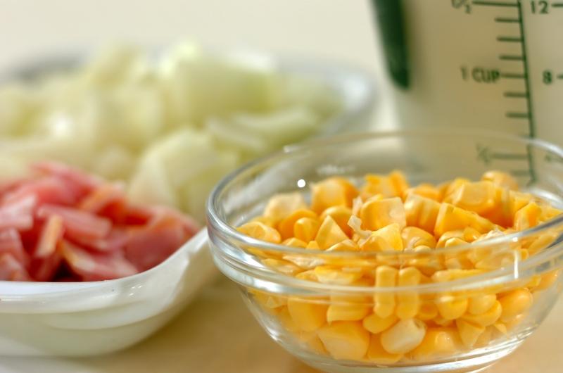 冷製コーンミルクスープの作り方の手順1
