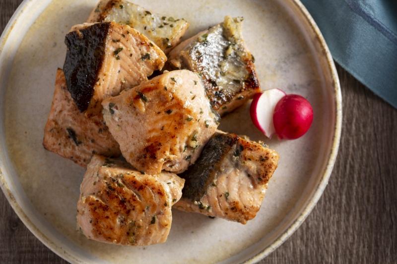鮭のハーブマリネ焼きの作り方の手順