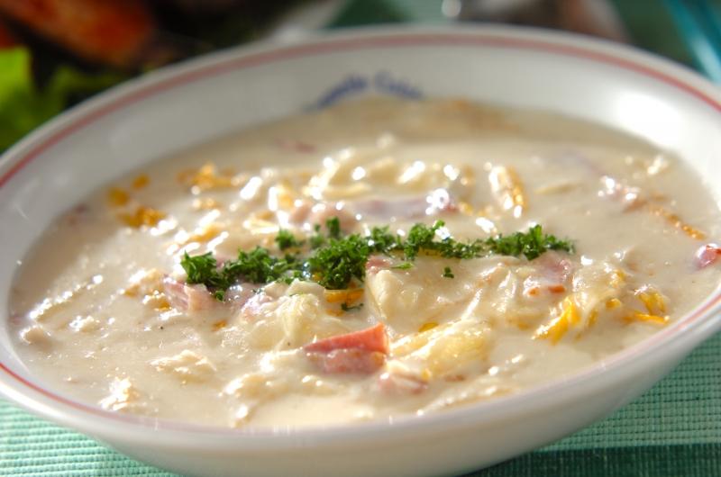 とろーりあたたか白菜のクリーム煮の作り方の手順