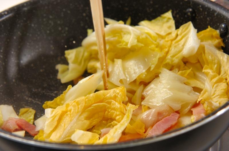 とろーりあたたか白菜のクリーム煮の作り方の手順2