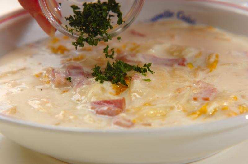 とろーりあたたか白菜のクリーム煮の作り方の手順5