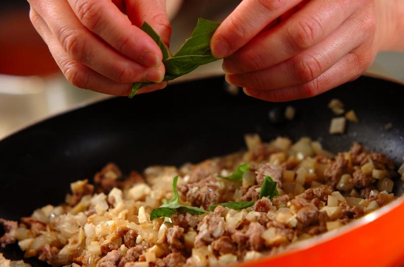 タケノコのガパオご飯の作り方1