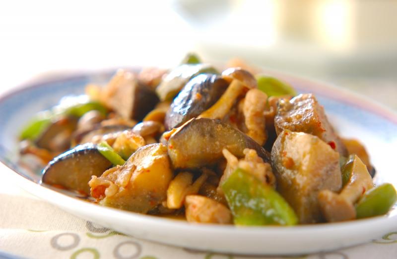 豚とナスの甘みそ炒めの作り方の手順