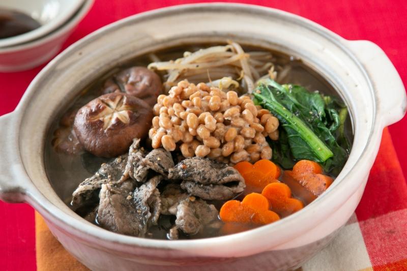 黒ごま坦々納豆鍋