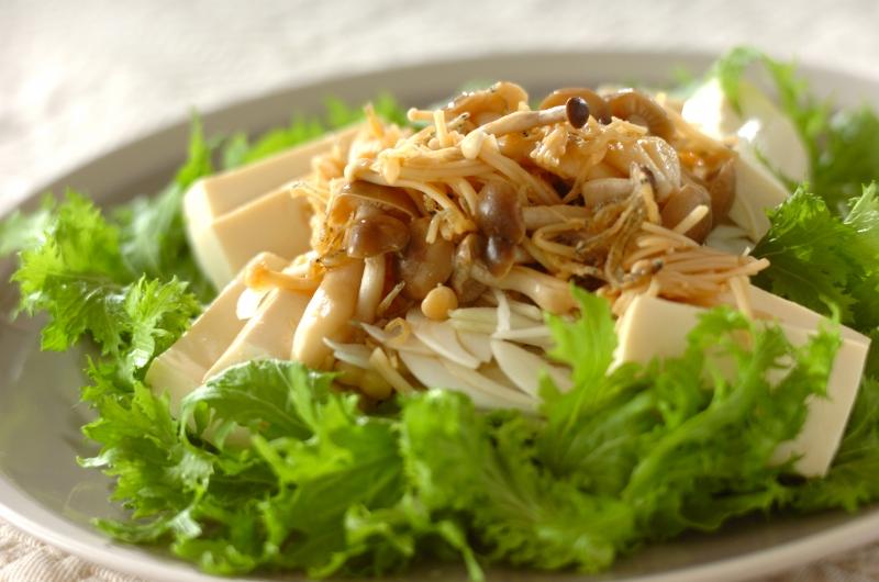 ワサビ菜のヘルシー和風サラダ