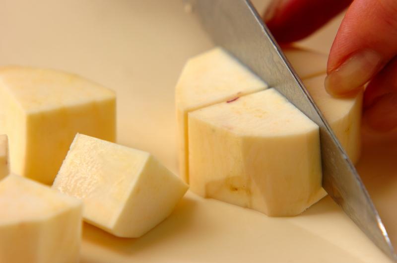 サツマイモのレモンバタージャムの下準備1