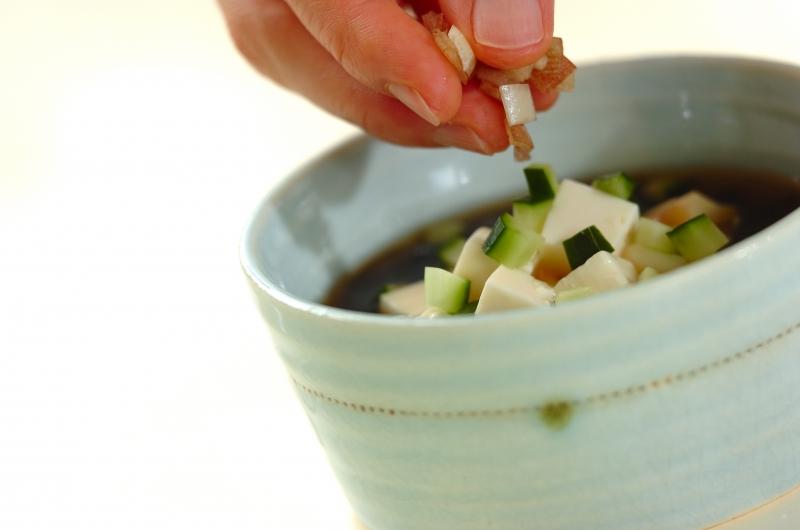 ゴマ油香るマグロのとろろそば(つけそば)の献立の作り方の手順8