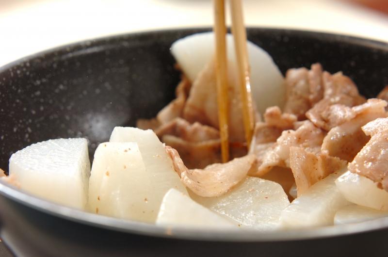 豚バラ大根の作り方1