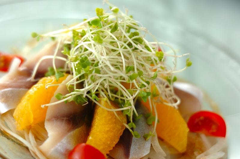 しめサバとオレンジのサラダの作り方の手順