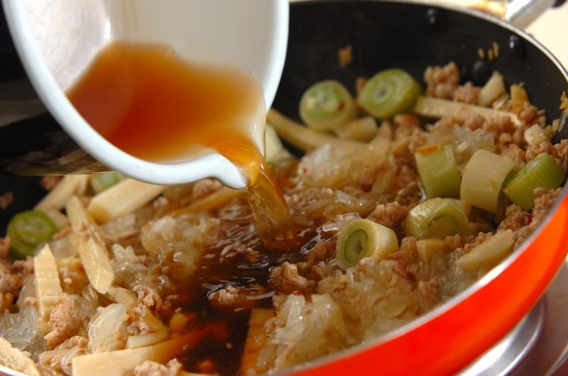春雨とひき肉のピリ辛炒めの作り方の手順7