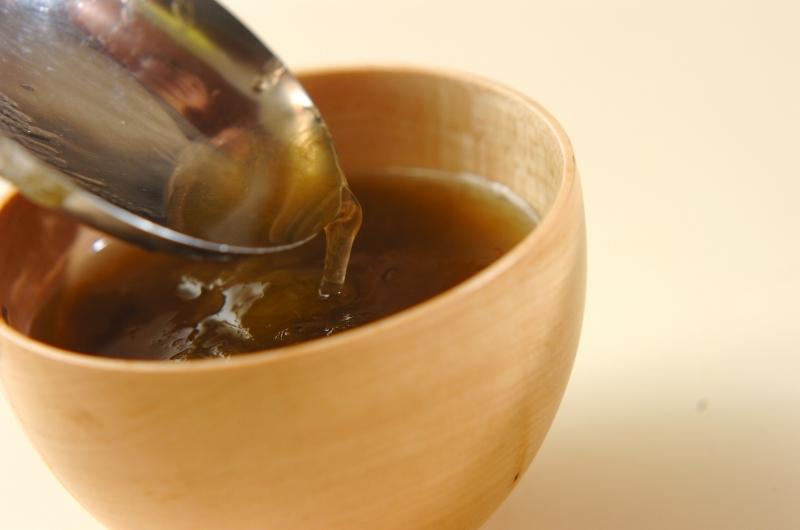梅干しとミツバのおすましの作り方2
